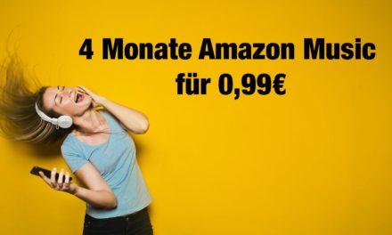 Deal: 4 Monate amazon music unlimited für nur 99cent