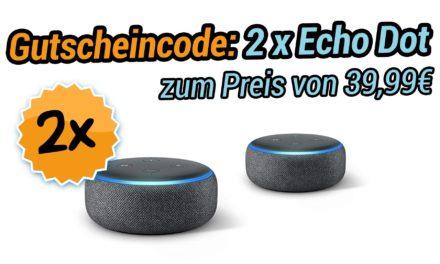 Deal: Gutscheincode 2 Echo Dot zum Preis von einem