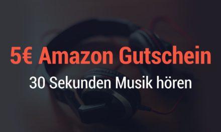 Für Prime Mitglieder: 5€ amazon Guthaben geschenkt – 30 Sekunden Musik hören