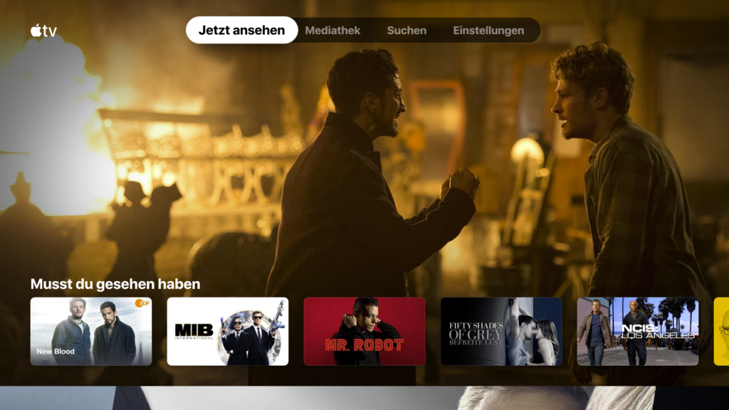 Der Startbildschirm der Apple TV App auf dem Fire TV