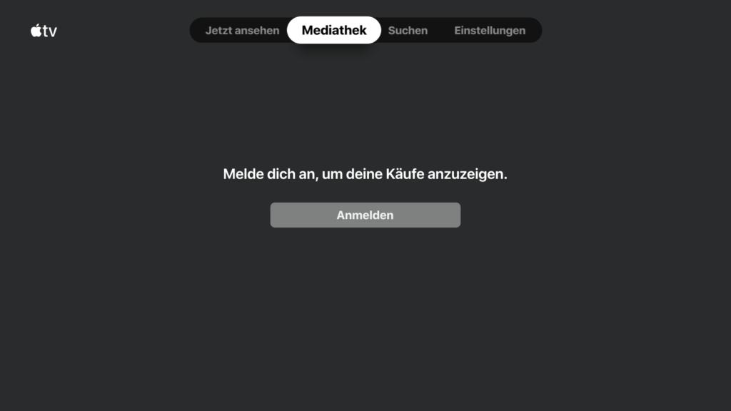 Scrollt man nach rechts bekommt man Zugriff auf die bisher bei Apple mit dem Konto gekauften Inhalte