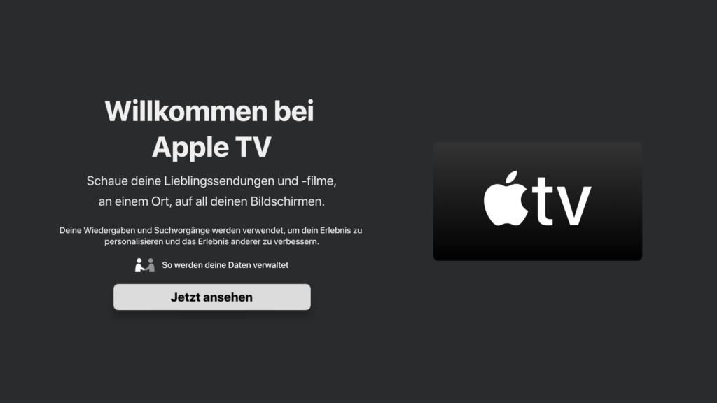 Startbildschirm der neuen Apple TV App fürs Fire TV