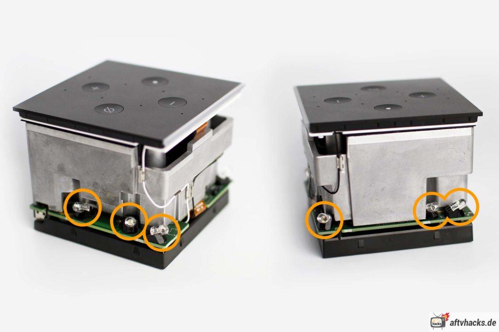 Der Fire TV Cube 2 verfügt neben dem externen Infrarot Sender über 6 eingebaute IR Sender