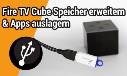 Interner Speicher des Fire TV Cube per USB-Stick erweitern um Apps darauf zu installieren