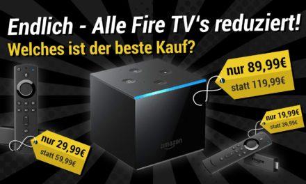 Black Friday Woche: Fire TV Cube, Fire TV Stick 4k und Fire TV stick reduziert