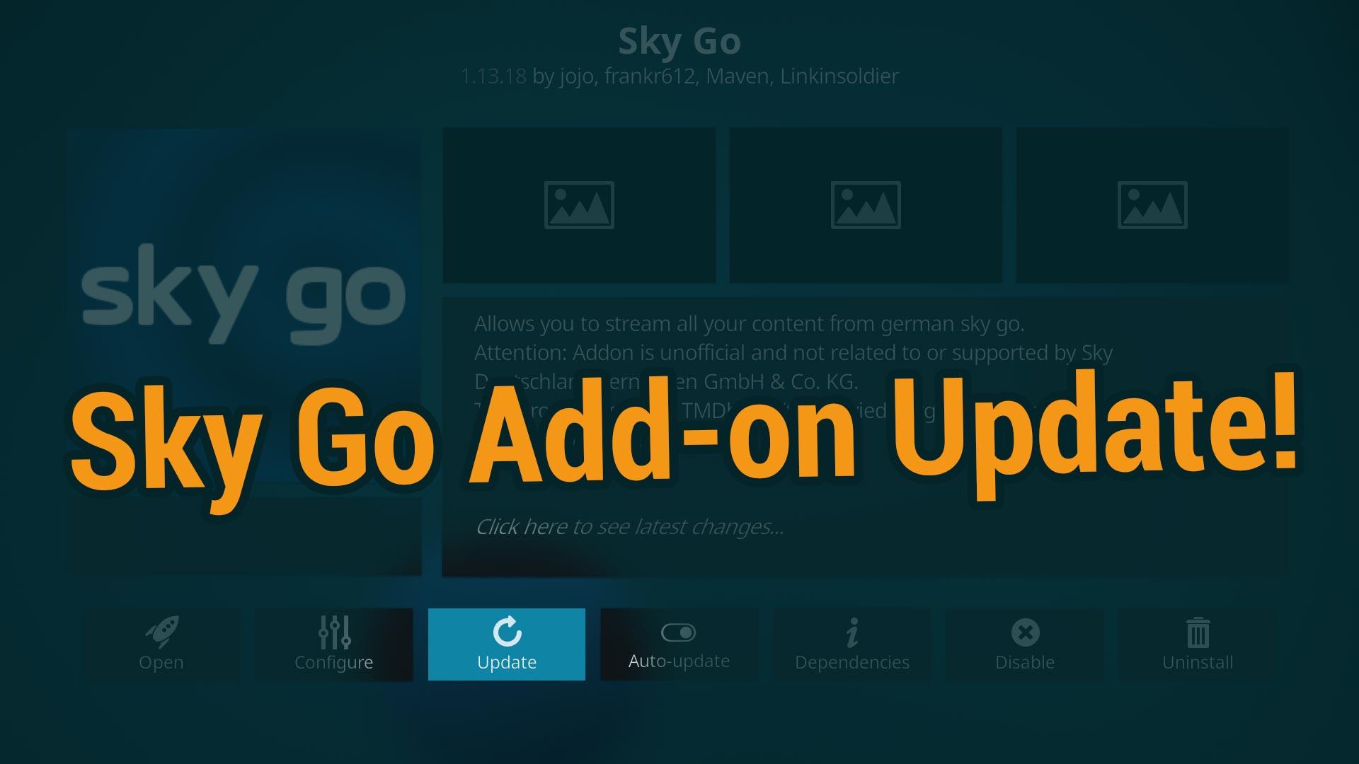 Sky Go Add On Kodi