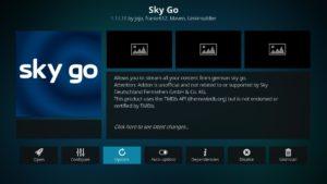 Auf Update klicke um das SkyGo Add-on zu aktualisieren