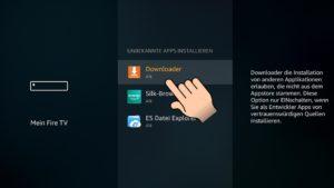 Unter Unbekannte Apps installieren schaltet ihr den Downloader auf AN