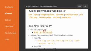 APKs wie Kodi auf dem Fire TV herunterladen