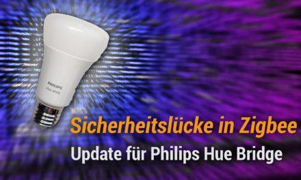 Zigbee Sicherheitslücke , Phlips Hue bekommt Firmware Update