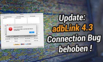 adbLink 4.3 erschienen – endlich Connection Bug behoben