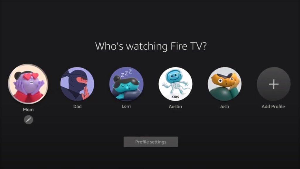 Das Fire TV erhält jetzt endlich Nutzerprofile
