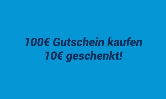 10€ geschenkt beim Kauf eines 100€ Amazon Gutscheines