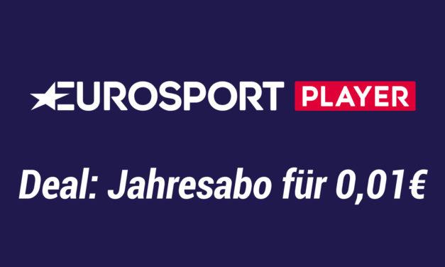 Deal: 1 Jahr Eurosport Player Channel für nur 0,01€