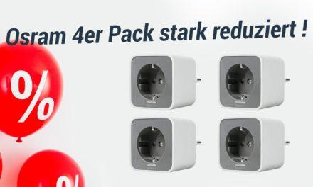 Deal: 4er Pack Osram Smart+ Steckdose reduziert auf Amazon